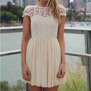Tulle mini lace dress